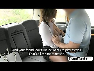 Big ass and big tits babe gets pounded in the backseat