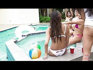 GIRLS GONE WILD - Pool Party With Marilyn Mansion, Nicole Rey, and Other Hot..