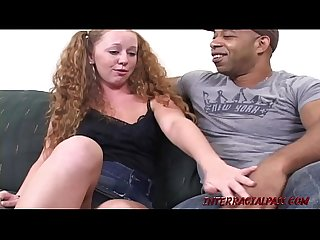 Teen Leighlani Red Gets Pussy Jammed with Big Black Cock