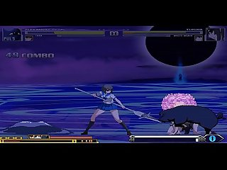 kuromaru plus VS Dengeki Bunko Fighting Climax 01 Hentai Mugen
