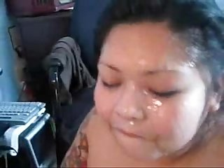 Asian getting fuck in the ass then taking facial from black cock