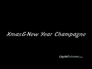 Fisting Layla Extreme - Xmas & New Year Champagne