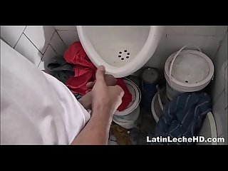 Amateur Bad Boy Spanish Latino Paid Cash For Threesome In Public Restroom POV