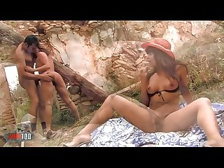 Hot hard Anal Outdoor Threesome with 2 very Hot latinas babes