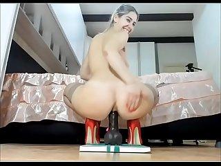 Deep dick anal ride