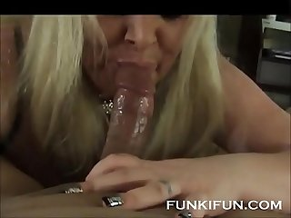 Bbw stepmom loves sucking my dick till i cum in her mouth