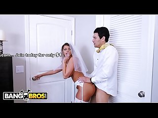 BANGBROS - Bride MILF Brooklyn Chase Fucks Her Step Son On Wedding Day!