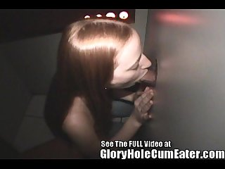 Teen christine blowing total strangers at a tampa gloryhole
