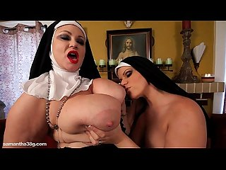 Big tit bbw lesbian nuns fuck themselves with huge toys
