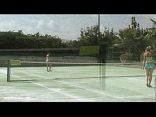 Lesbians aneta and debby have hot sex on the tennis court by sapphic erotica