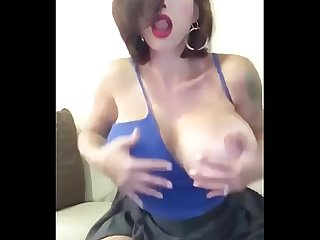Slut big tit milf masturbating