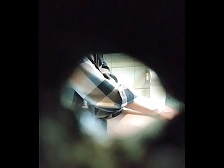 Spying On White Perv in Restroom Part 2
