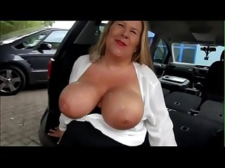 German BBW Milf Fucked In The Back of a Car - Pumhot.com