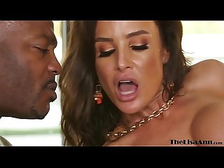 Busty MILF Lisa Ann takes facial after BBC threesome