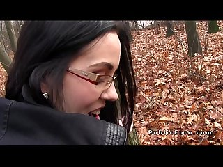 Brunette amateur fucks for money in Forest