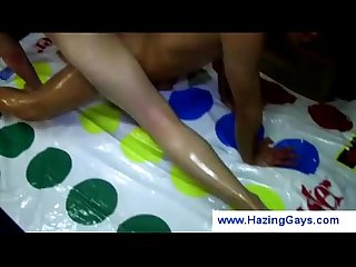Gay teens playing naked twister
