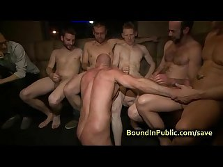Baldheaded gay anal fucked in the club