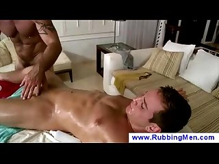 Oily massage ends up in blowjob