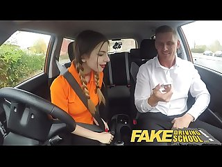 Fake driving School loves her big natural Young tits pov Sex