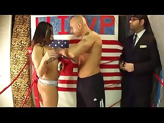 King of intergender sports sofia vs man in belly punching boxing match uiwp entertainment