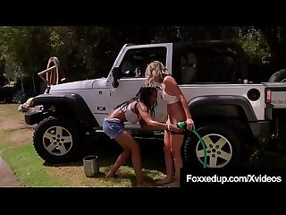 Car wash cunnilingus with young black jenna fox shy love