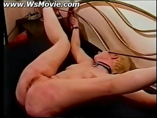 Two ladies tied up and getting cunt spanked