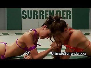 Female wrestlers strapon dildo fuck after match