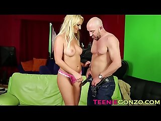 Blonde teen Payton Simmons banged hard and facialized