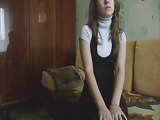 Russian teen amateur couple homemade hard bang