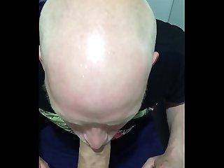 Airport Toilet cum swallow deepthroat