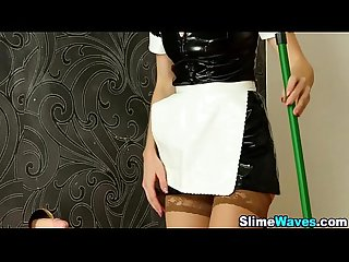Wam fetish maid creamed