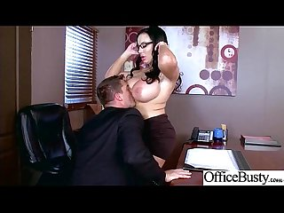 (Sybil Stallone) Round Huge Tits Office Girl Enjoy Hard Intercorse clip-29