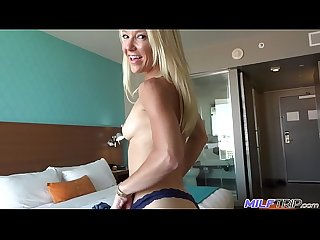 MILFTRIP Hotel Courtyard Blonde MILF Laura Bentley Fuck & Facial