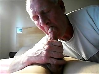 Old daddy sucking his grandson S horny dick