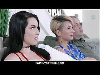 Horny brunette Pawg stepdaughter raven reign makes webcam sex show with stepdad while mom sleeps