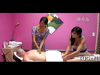 Man seduces horny massage therapist