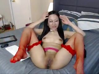 Horny filipina plays with moist pussy