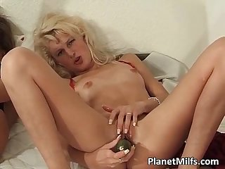 Three gorgeous milf sluts fuck those wet