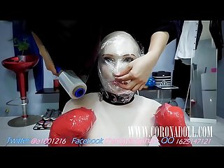 bondage tape dog Face Sitting Breath Play