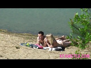 Beach fucking amateur teen stepsister nice ass with small tits outdoor