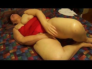 Bbw mexican wife cumming on big dildo