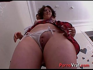 For her first porn video she has 3 orgasms! French amateur