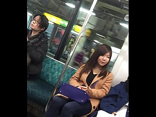 Pantyhose japanese train 7