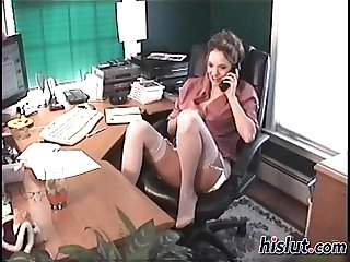 This slut is a secretary