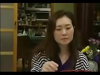 Asian mature Milf get blackmailed by A boy to lick his cock remilf period com