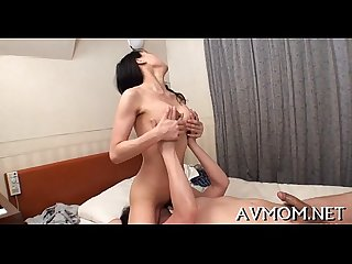 Horny oriental mother i'd like to fuck enjoys cock