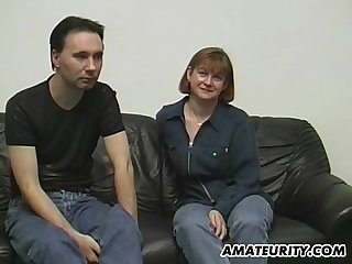 Amateur couple doing it for a casting