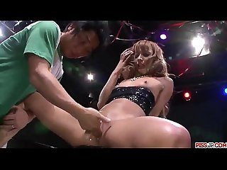 Kyoko stands nude and leaves guy to deep finger fuck her pussy more at pissjp com
