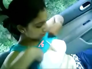 Indian wife showing boobs in car