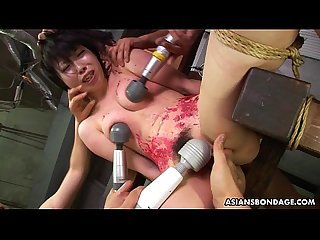 Asian bitch loves to be bdsm treated to a wax show